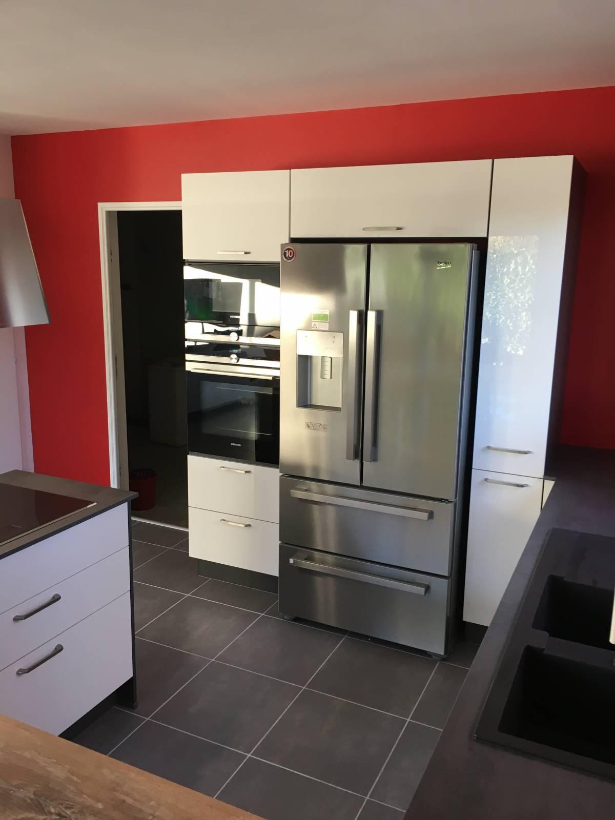 Cuisine avec frigo americain cuisine avec frigo amricain fresh cuisine d angle alamode - Frigo americain dans cuisine equipee ...